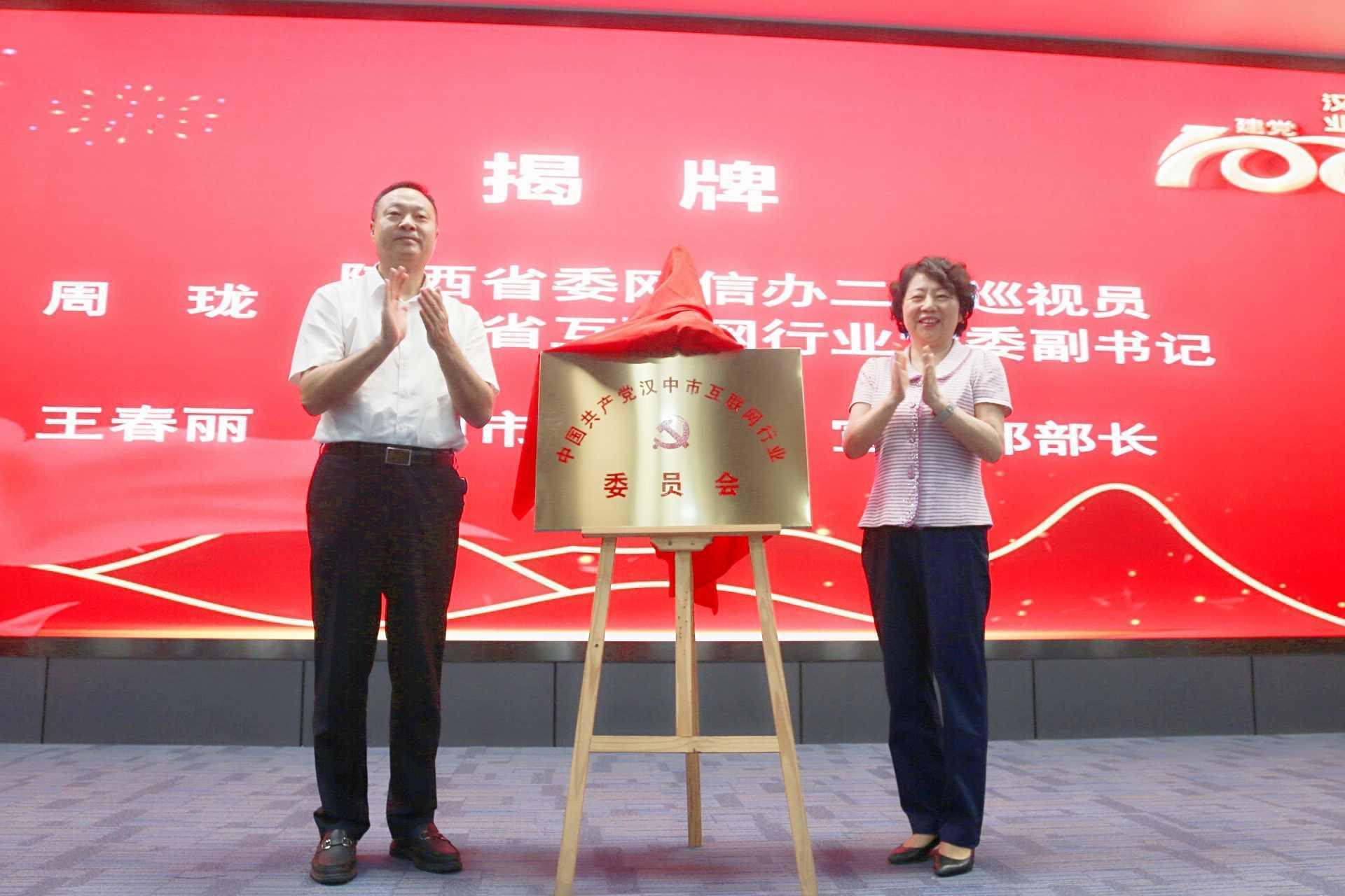 汉中市互联网行业党委正式揭牌成立